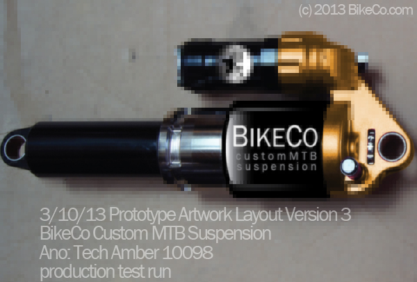 BikeCo CustomMTB Suspension Rear Shock